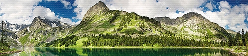 PVC пано 4324 Планинско езеро