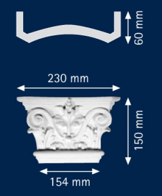 Декоративен пиластер HКP 15 D