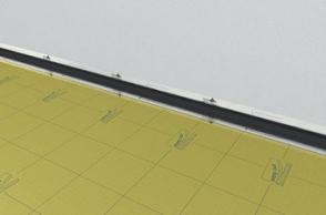 4.Поставете уплътнителна дистанцираща лента покрай стената